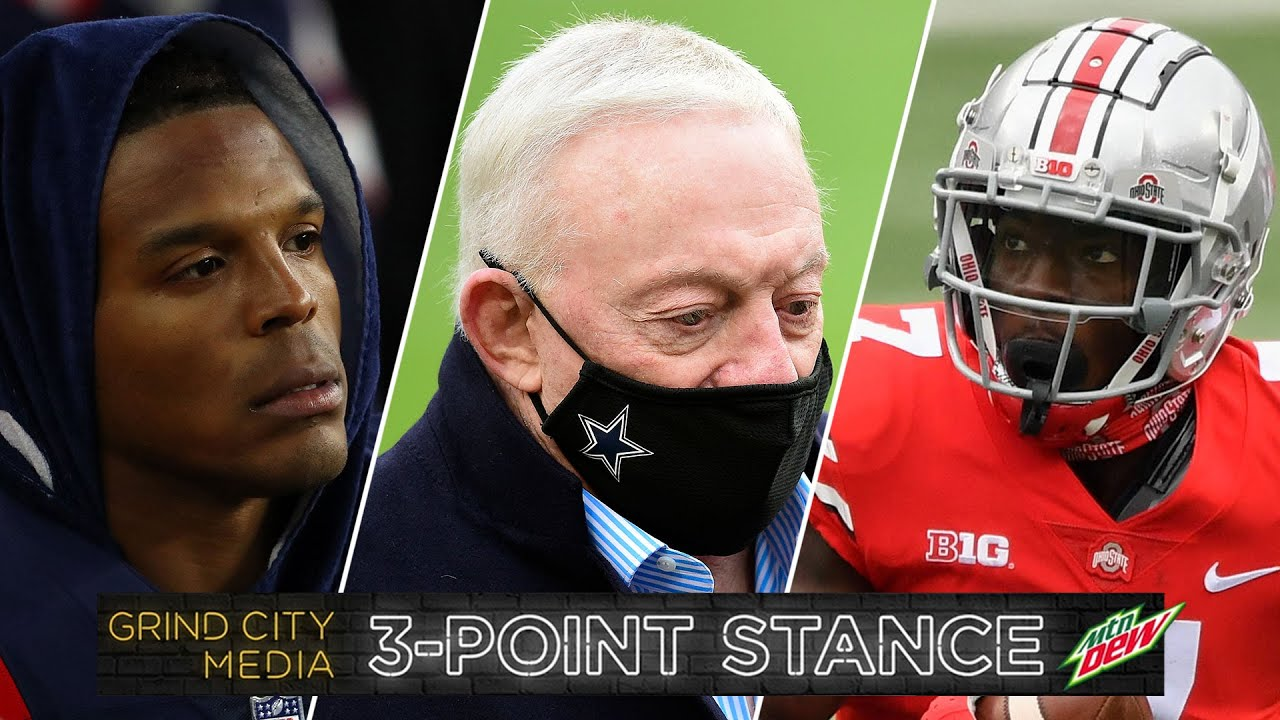 Cam Newton Benched, Cowboys Fall Apart, Big 10 Football Opening Weekend | 3-Point Stance