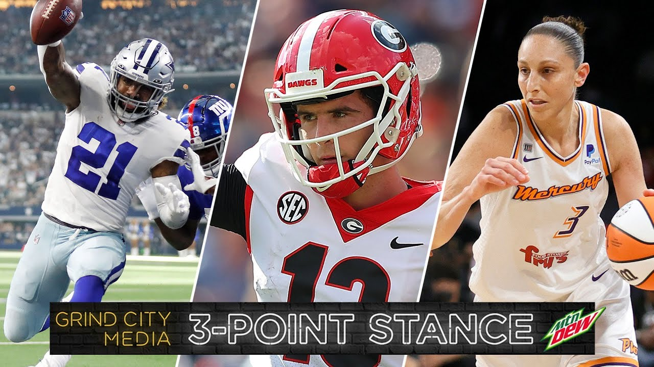 Top 4 Teams in NFL & College Football + Diana Taurasi Named WNBA GOAT | 3-Point Stance