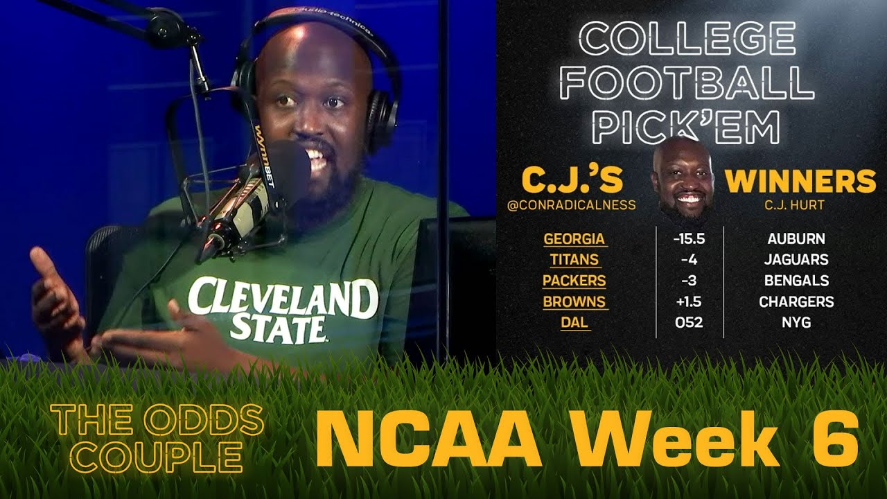 The Odds Couple: It's UGA and BAMA, Then Everyone Else! (CFB Week 6) + Lance Taylor & Pick'em Panel